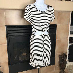 PROMESA S/S Knit Dress   Black & White   Size S